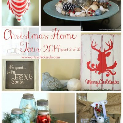 Red & Teal Themed Christmas Home Tour – (part 2 of 3)