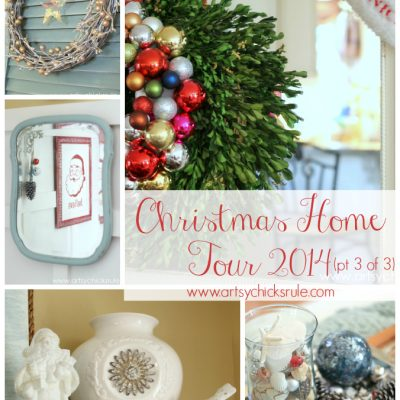 Christmas Home Tour – Red & Teal Themed (part 3 of 3)
