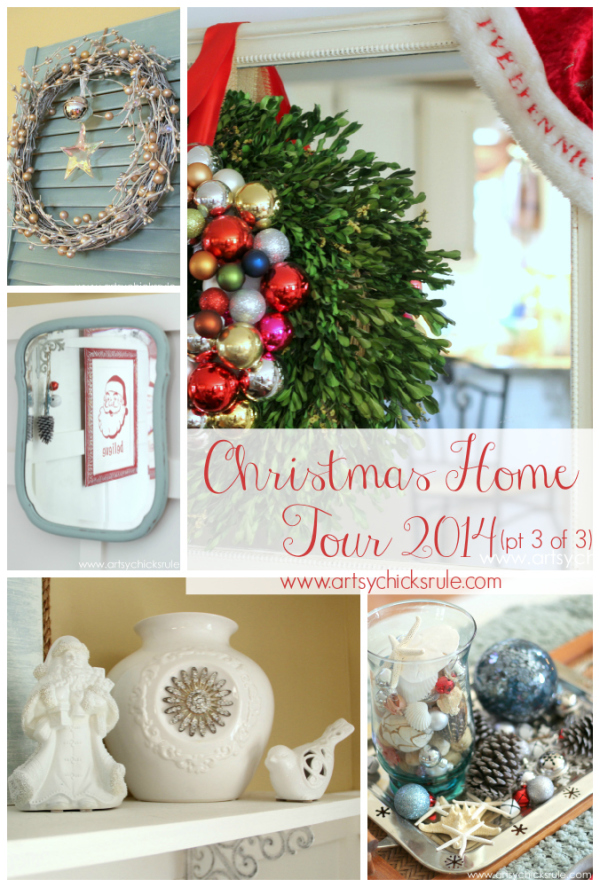 christmas home tour 2014 red and teal themed part 3 of 3 - Teal And Red Christmas Decorations