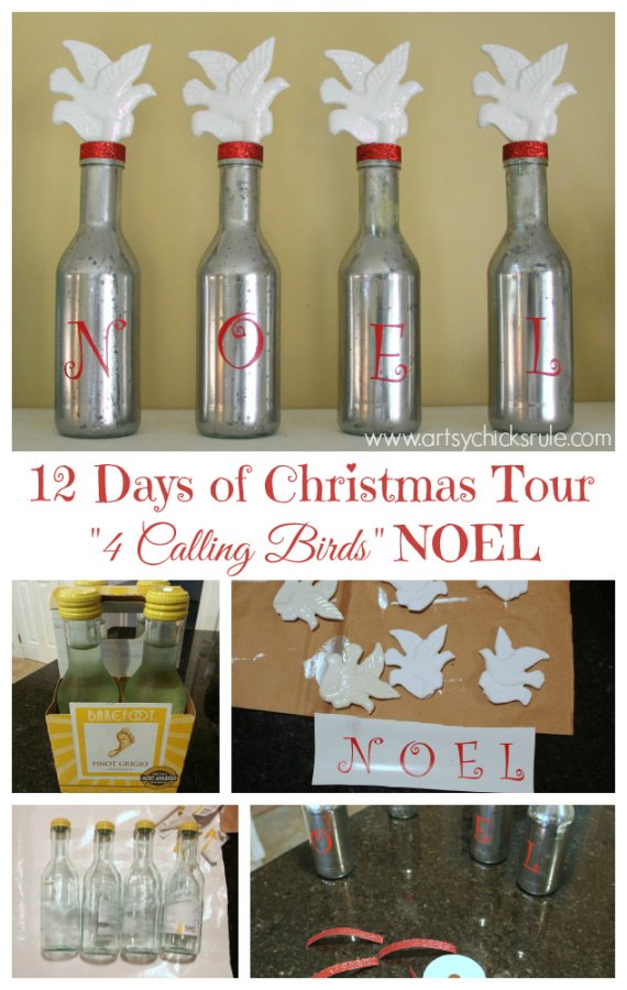 Four Calling Birds Noel Holiday Decor - #NOEL #holidays #holidaydecor #Christmas artsychicksrule