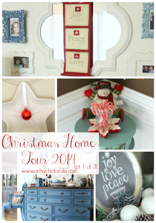 Home for the Holidays - Christmas Home Tour Part 1 - #holidaydecor #christmashometour #Christmasdecor #artsychicksrule