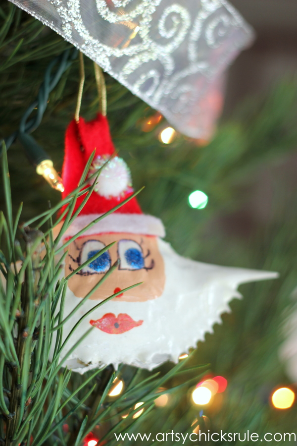 Oh Christmas Tree - 2014 - Crab Shell Santa - #Christmastree #ornaments #holidaydecor #holidays #Christmas artsychicksrule.com