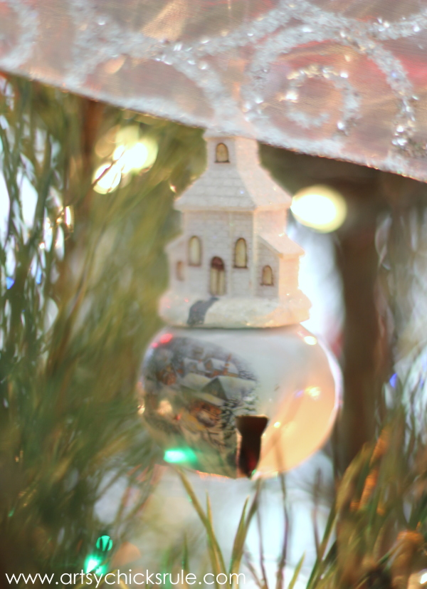 Oh Christmas Tree - 2014 - Thrift Store Bell Church -#Christmastree #ornaments #holidaydecor #holidays #Christmas artsychicksrule.com