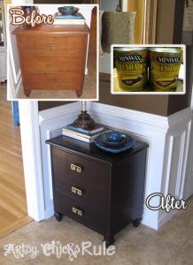 Super Easy Way to Update Wood Furniture - #polyshades #minwax #bestof2014 #artsychicksrule artsychicksrule.com