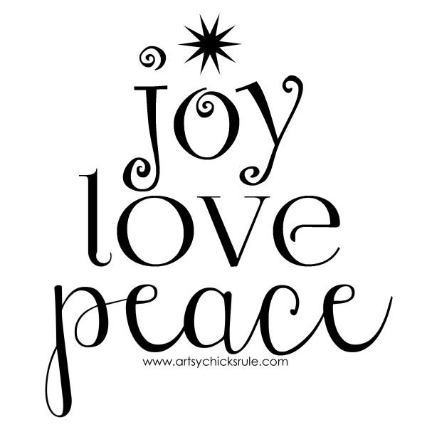 joy love peace - artsychicksrule