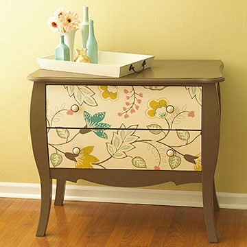 Parisian Nightstand Makeover with Fabric & Chalk Paint - inspired - #parisian #french #chalkpaint #milkpaint artsychicksrule.com