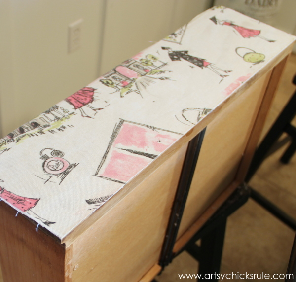"""""""Pretty in Pink"""" Parisian Night Stand Makeover with Chalk Paint - artsychicksrule.com"""