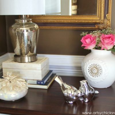 A Decorating Challenge – How to Shop Your Home (Foyer Table – Part 1)