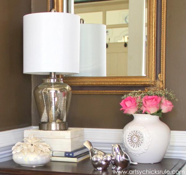 Shop Your Home - Decorating Challenge - First of Three #makeover #decor #decorating artsychicksrule.com up close