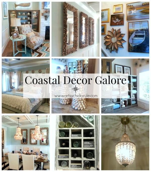 Coastal Decor Galore - Homearama Suffolk Virginia - artsychicksrule.com #homearama #coastaldecor #coastal #nautical #beachdecor
