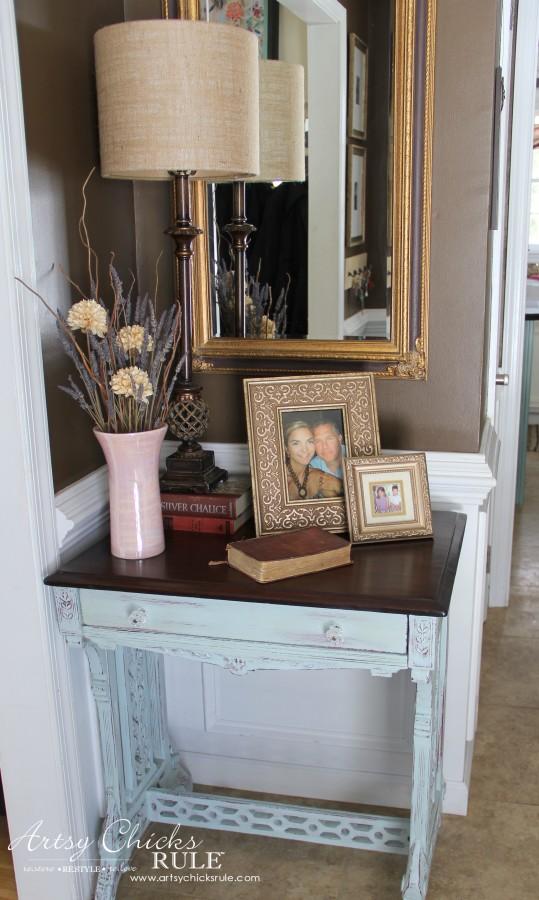 Decor Challenge - Shop Your Home - Part 2 - Foyer -#homedecor #thriftydecor
