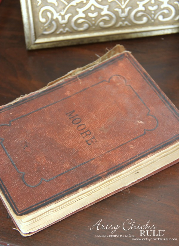 Decor Challenge - Shop Your Home - Part 2 - Old Book -#homedecor #thriftydecor