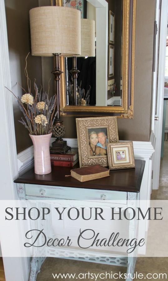 Decor Challenge - Shop Your Home - Part 2 - #homedecor #thriftydecor