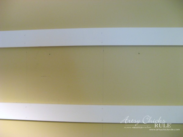 DIY Faux Board and Batten - Second Board - #diy #boardandbatten artsychicksrule.com