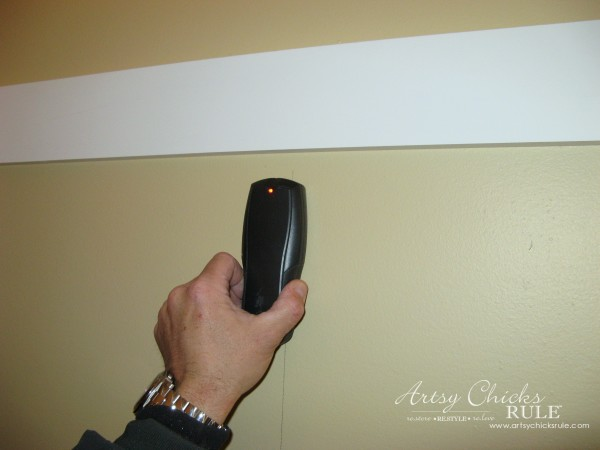DIY Faux Board and Batten - Studs if possible - #diy #boardandbatten artsychicksrule.com