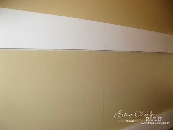 DIY Faux Board and Batten - seamless with caulk - #diy #boardandbatten artsychicksrule.com