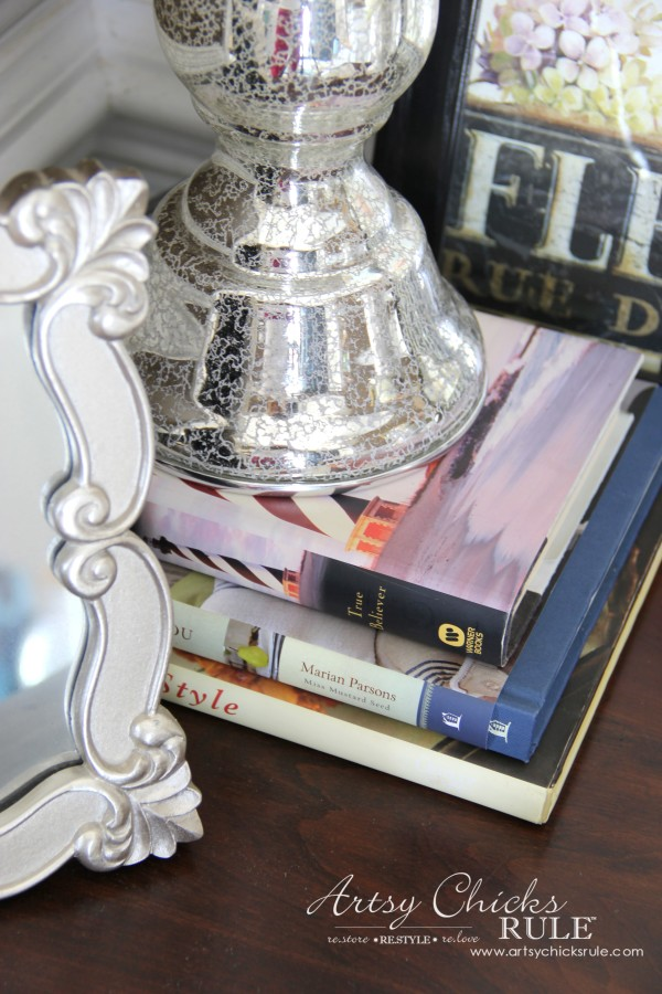Decor Challenge - Shop Your Home Part 3 - Books - #shopyourhome #homedecor #thriftydecor #thrifty artsychicksrule.com