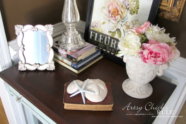 Decor Challenge - Shop Your Home Part 3 - French Coastal - #shopyourhome #homedecor #thriftydecor #thrifty artsychicksrule.com