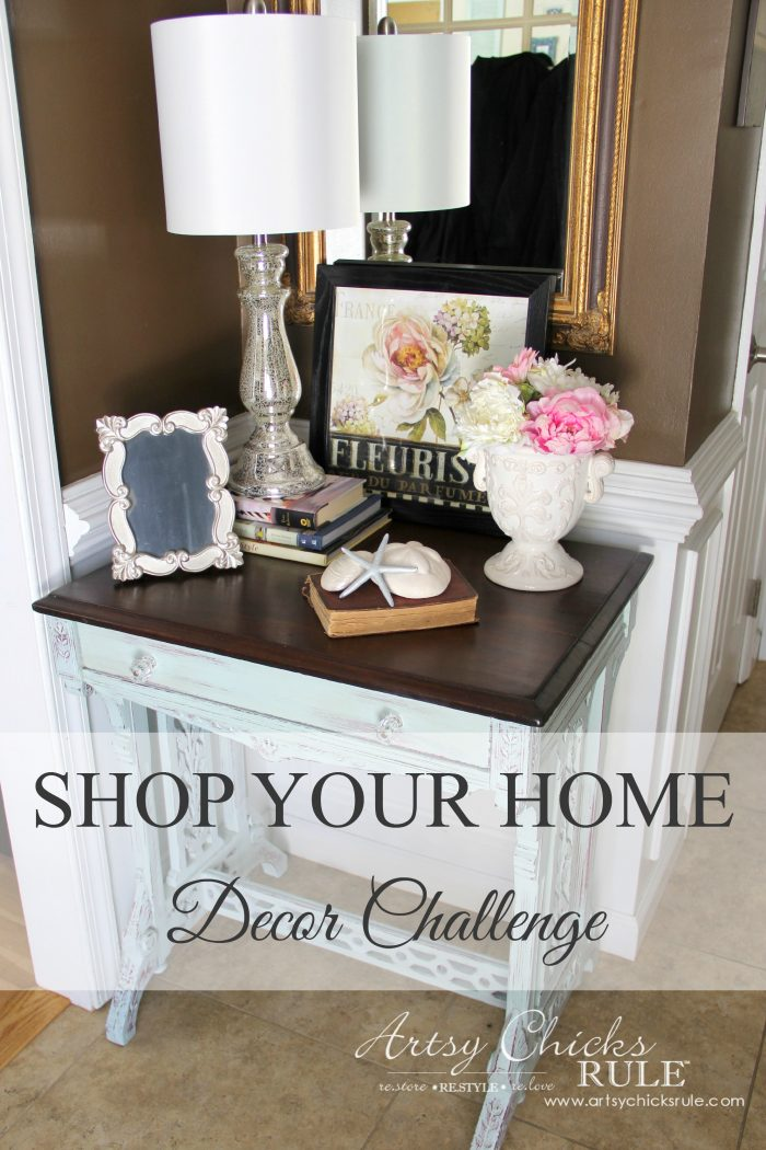 A Decorating Challenge Shop Your Home Foyer Part 3