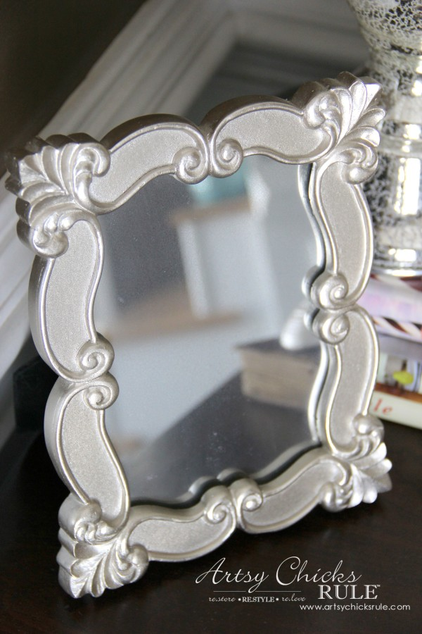 Decor Challenge - Shop Your Home Part 3 - Pretty Mirror - #shopyourhome #homedecor #thriftydecor #thrifty artsychicksrule.com