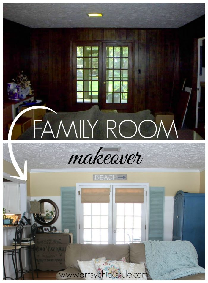 Family Room Makeover Before After Artsy Chicks Rule