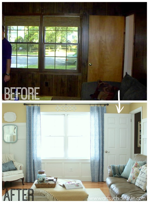 Family Room Makeover Front Windows