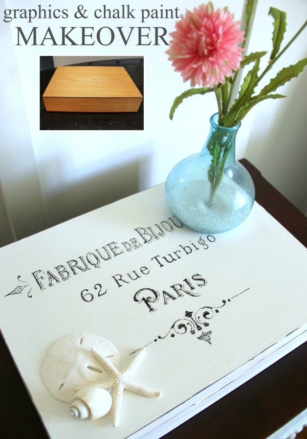 French Paris Box Makeover with Chalk Paint 1 - Coastal Cottage - #chalkpaint #coastal #anniesloan #paris #french #frenchcountry artsychicksrule.com