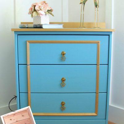 Fancy Blue & Gold Chest – IKEA Rast Hack