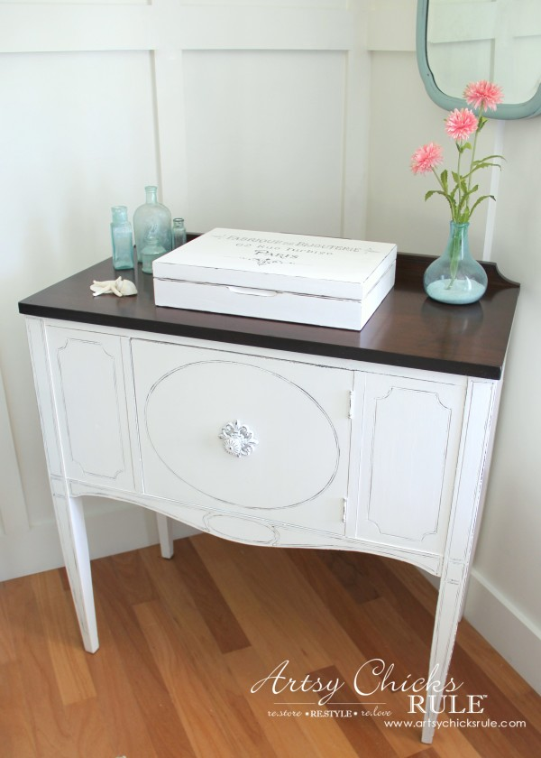 Sideboard Makeover with Java Gel and Chalk Paint - After1 - #javagel #chalkpaint #anniesloan #makeover artsychicksrule.com