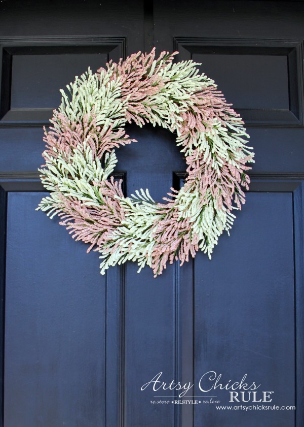 simple diy spring wreath front door spring wreath