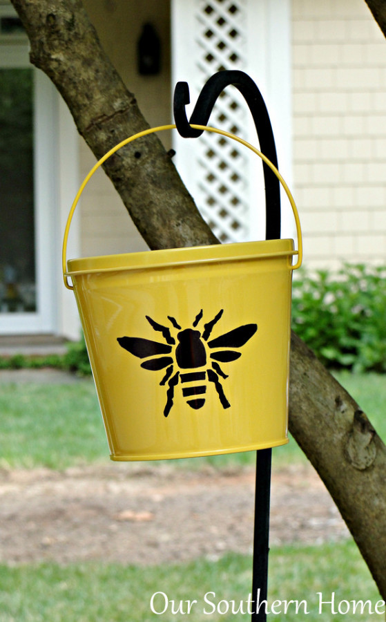Sharpie-Citronella-Buckets- Our Southern Home