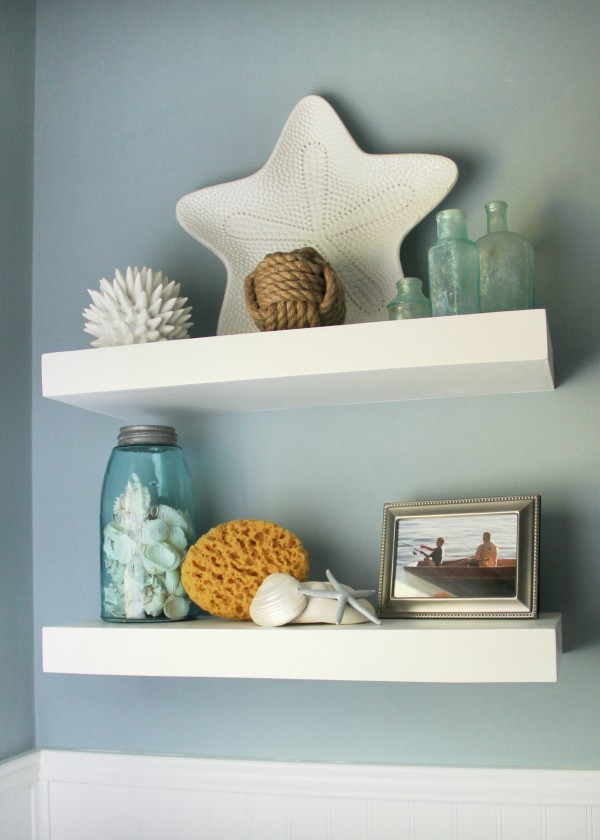 DIY Floating Shelves Home Depot #ad