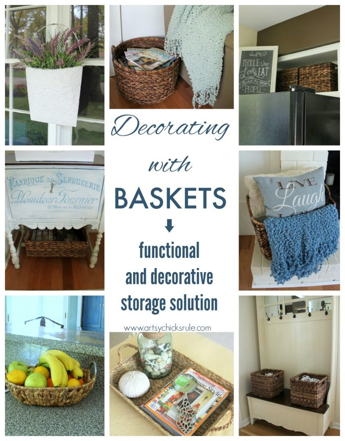 Decorating With Baskets (Functional U0026 Decorative Storage Solution)   Artsy  Chicks Rule®