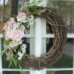 Simple (and thrifty!) DIY Floral Wreath