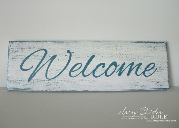 Easy DIY Welcome Sign - Make one! - #welcome #sign artsychicksrule.com