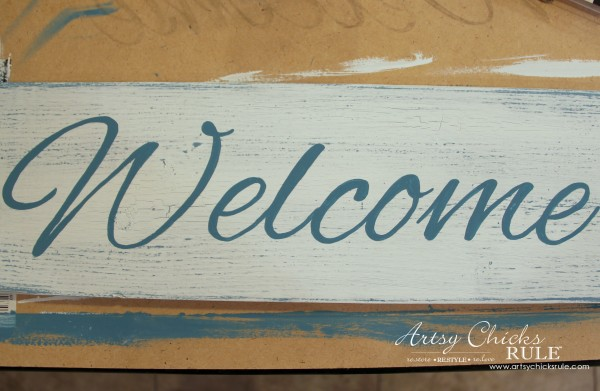 Easy DIY Welcome Sign - quick and easy! - #welcome #sign artsychicksrule.com