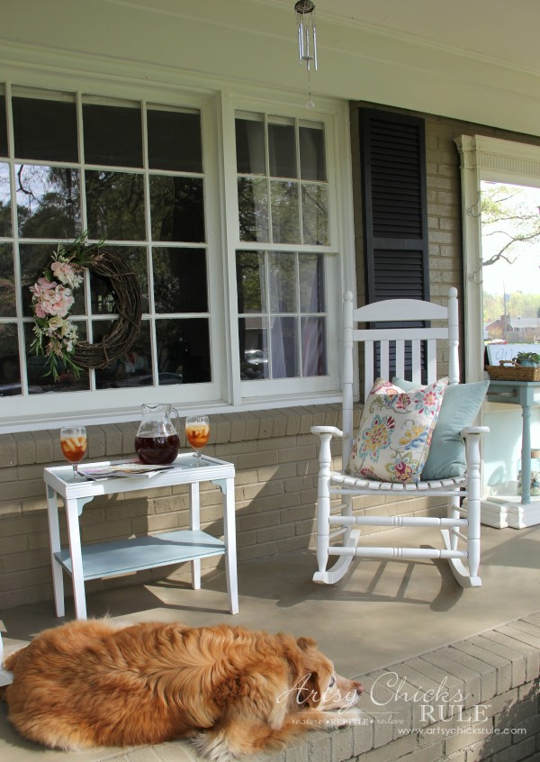 Enjoy Spring & Get Ready for Summer with BEHR DeckOver - Porch Love - #ad #BEHRdeckover