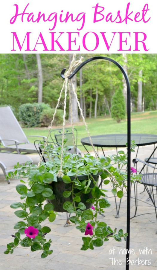 Hanging-Basket-Makeover At Home with the Barkers