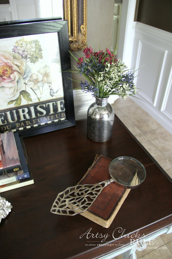 Home Treasure Swap with Porch - Paris bottle - artsychicksrule.com #homedecor #thrifty