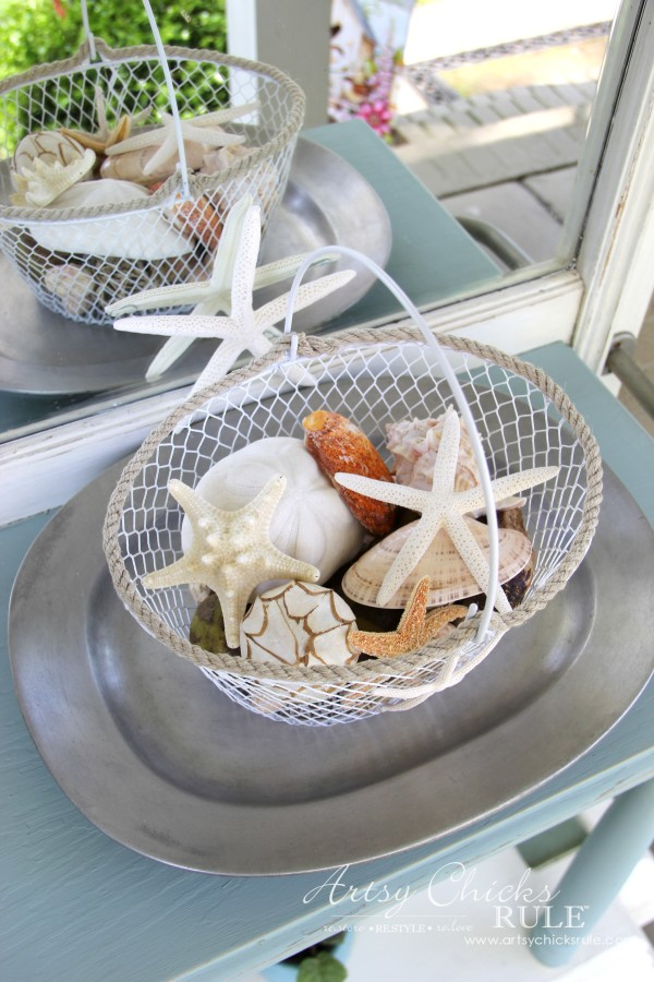 Home Treasure Swap with Porch - Seashells - artsychicksrule.com #homedecor #thrifty