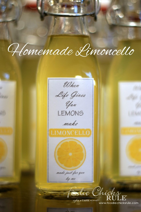 Homemade Limoncello - Make your own! Its easier than you think! - #limoncello foodiechicksrule