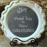 Old Metal Tray Repurposed with Chalk Paint (Menu Chalkboard)
