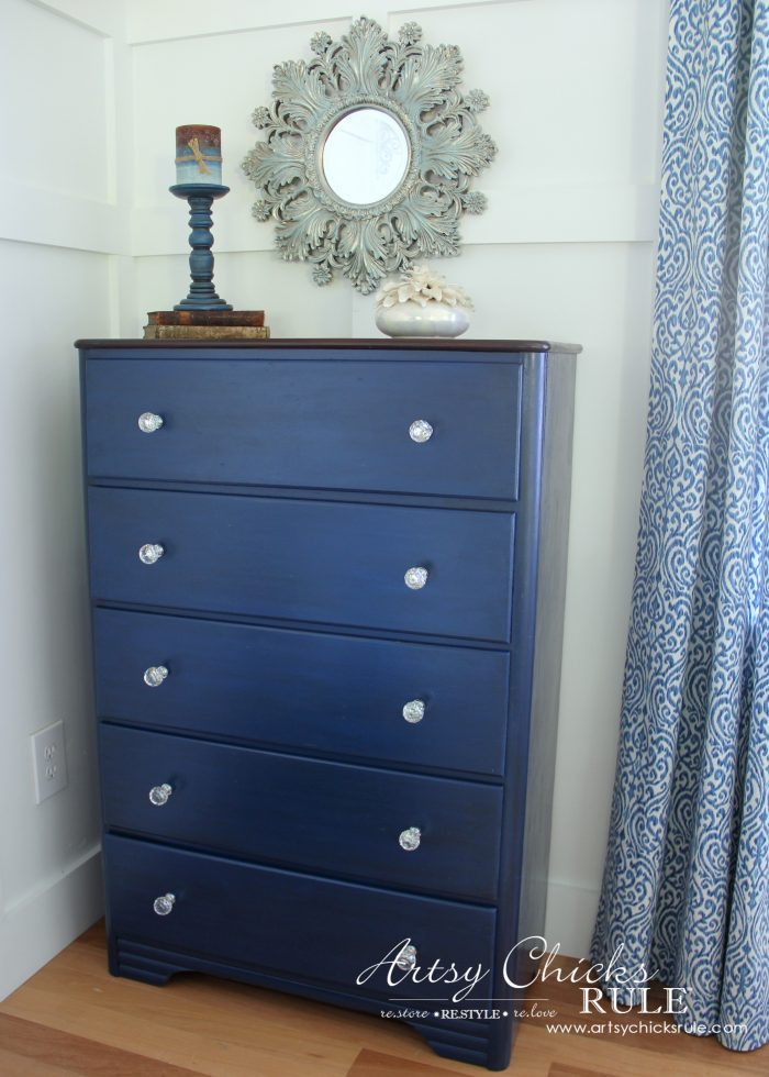 navy blue chest of drawers