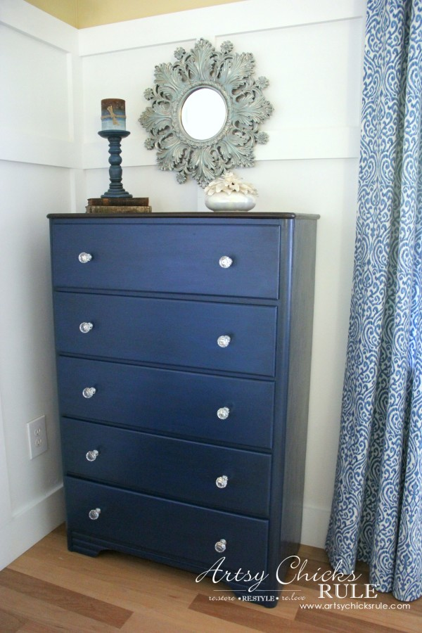 Coastal & Corinth Blue Milk Paint Makeover w Java Gel Top - Love BLUE - #generalfinishes #milkpaint #javagel artsychicksrule.com