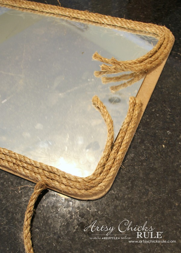 Nautical Rope Mirror Inspired By Ballard Designs Wrap Layers Of Around
