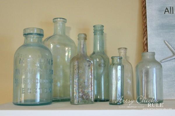 Vintage Collections - Old Bottles - #vintage #collections #bluemasonjars #retro #antique artsychicksrule.com