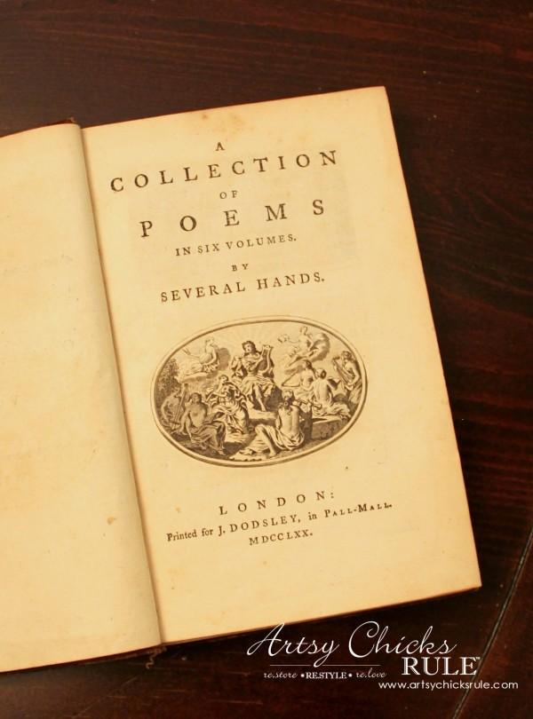 Vintage Collections - Rare 1770 Book - #vintage #collections #bluemasonjars #retro #antique artsychicksrule.com