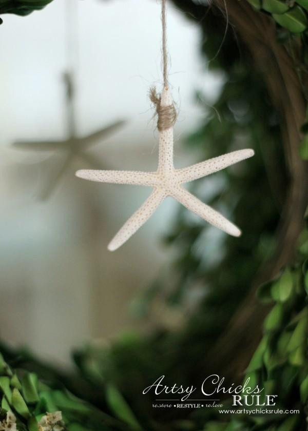 Coastal Summer Home Tour - with Balsam Hill - Starfish - #nautical #coastal #homedecor artsychicksrule.com