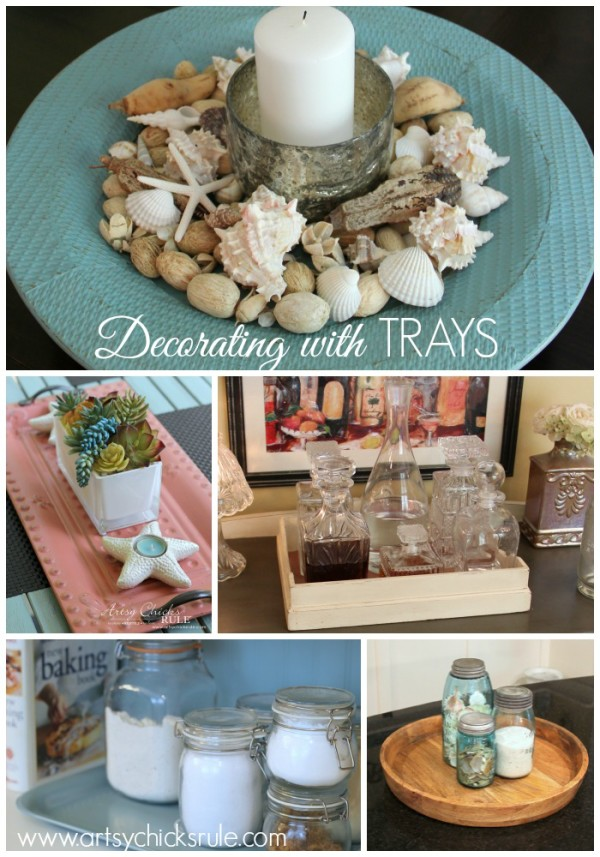 Decorating with Trays - Inspiring ways to use them in your home! - #homedecor artsychicksrule.com