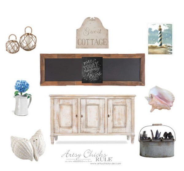 Dining Room Dreaming - Farmhouse Coastal Cottage Dreamboard - #diningroom #dreamboard #coastal #farmhouse artsychicksrule.com
